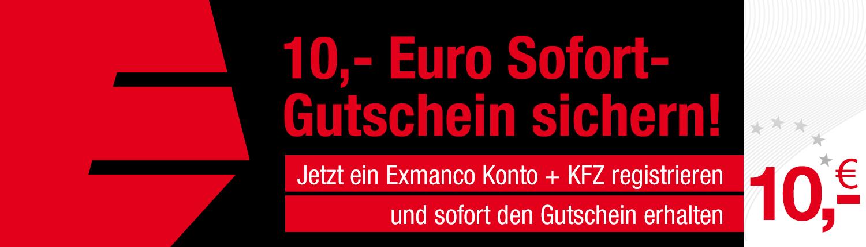 Exmanco - 10 Euro Sofort-Gutschein